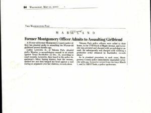 Investigating Officer-Washington Post- May 10, 2000