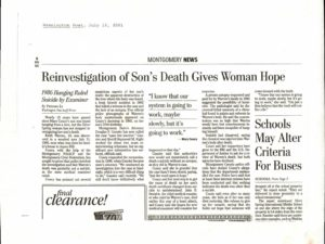 Washington Post July 2001 Montgomery County