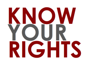 """2016 """"Know Your Right"""" initiative"""