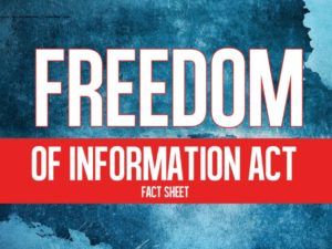 Freedom Of Information (FOIA) instructions