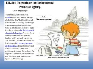 H.R. 861 To Terminate the Environmental Protection Agency